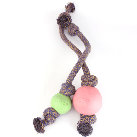 Filova mooi, sterk en natuurlijke speeltjes Beco Ball On A Rope small en large