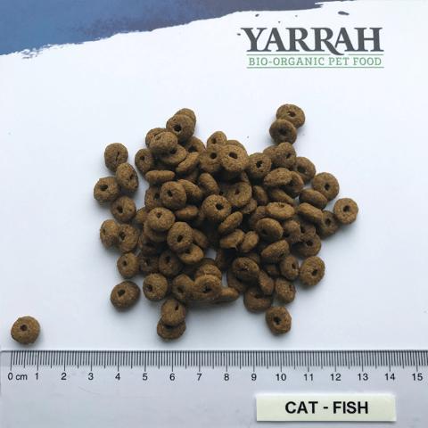 Filova bio kattenwinkel - Yarrah Adult Cat Food met Kip en Vis grootte krokante brok