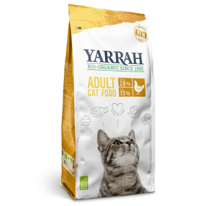 Yarrah Adult Cat Food Met Kip