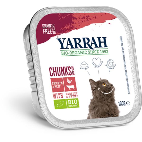 Filova ecoshop voor honden Yarrah chunks kip en rund met peterselie en thym