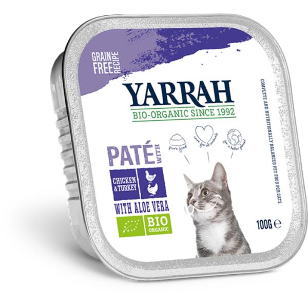 Filova online biologische dierenshop Yarrah Paté Kip En KalkoenMet Aloë Vera
