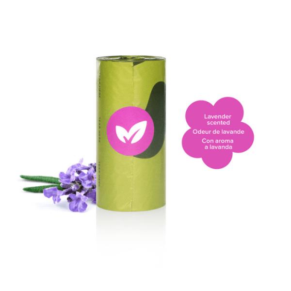 Earth Rated poepzakjes met lavendelgeur 1 rol (15 zakjes)