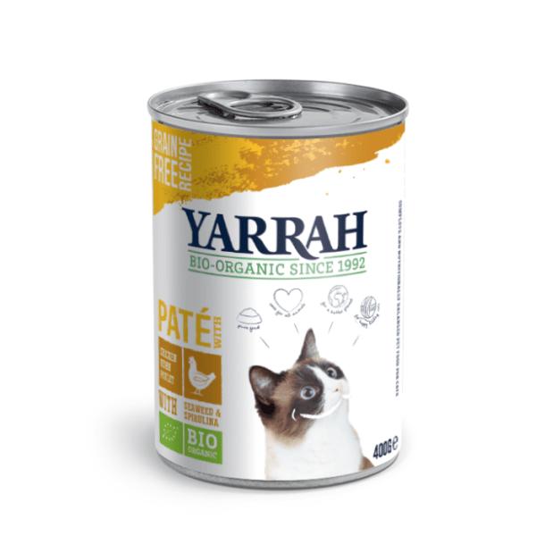 Filova biologisch kattenvoer Yarrah paté Kip met zeewier en spirulina 400g