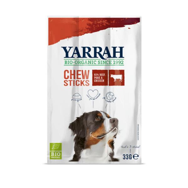 Filova dierenwinkel Yarrah chewsticks rund, varken en kip 33g