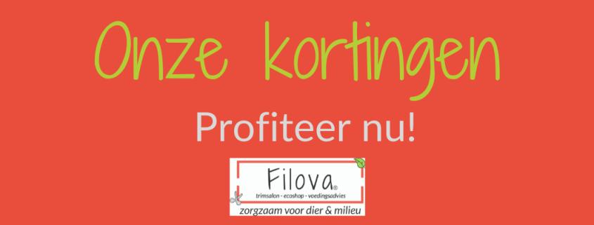 Kortingen Filova dierenwinkel