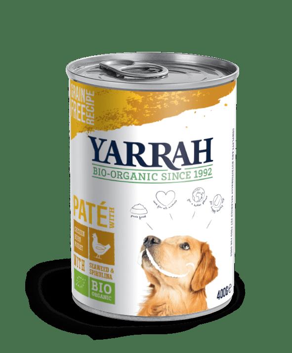 Filova biologische voer - Yarrah paté kip met zeewier en spirulina