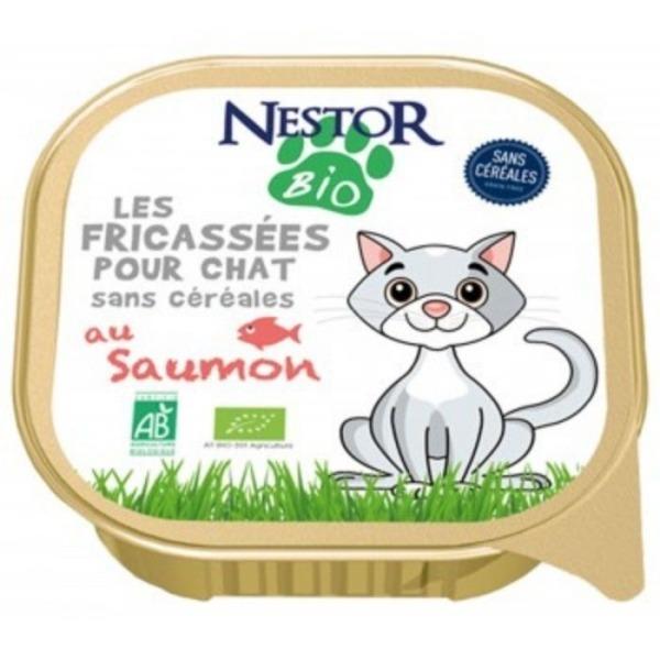 Filova dierenspeciaalzaak - Nestor paté met zalm zonder granen 100g